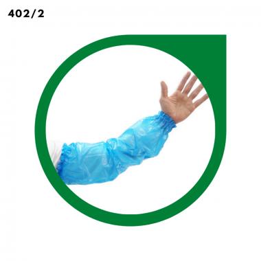 MANGOTE DESCARTÁVEL PLAST. AZUL PCT C/100UNI