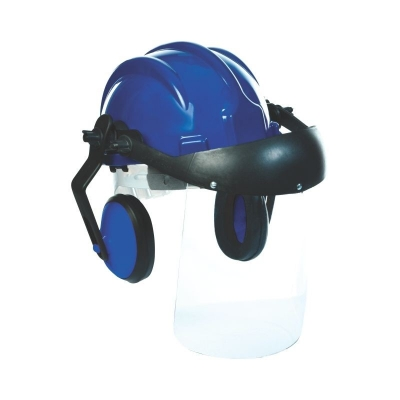Capacete c/ Protetor Auricular e Protetor Facial