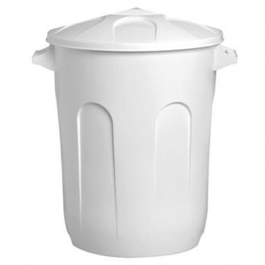 Lixeira Cesto Branco 60 litros com tampa