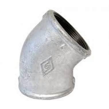 Cotovelo (joelho) galvanizada 45º