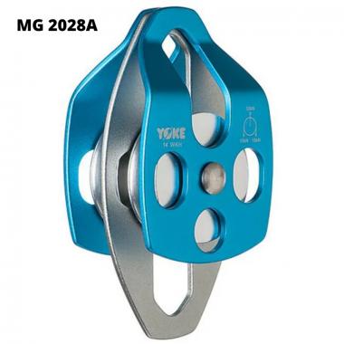 MG 2028A - Polia dupla alumínio com placa oscilante para corda de 10 até 16mm